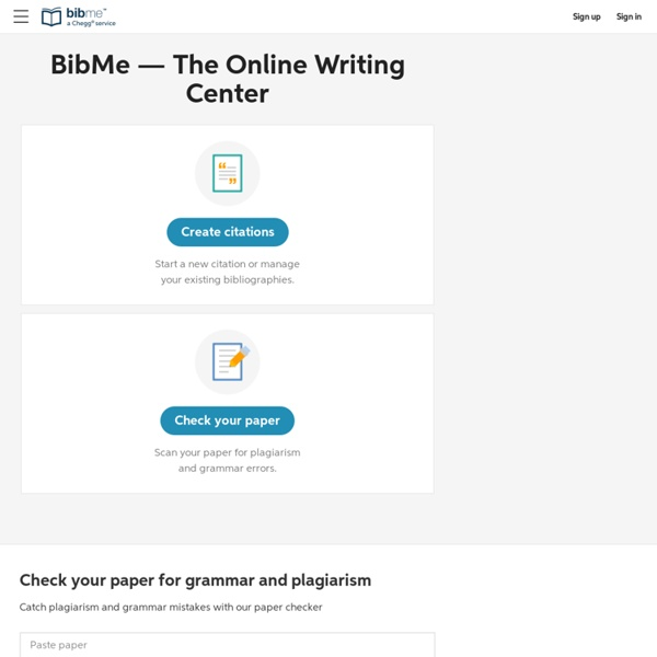 BibMe Free Bibliography amp Citation Maker  MLA APA
