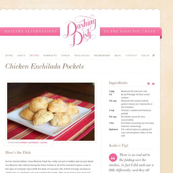 Chicken Enchilada Pockets