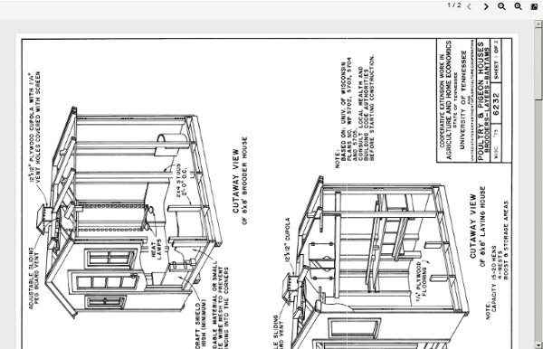 Chicken Coop Plans (PDF) - 8x 8 Foot Wooden Chicken Coop