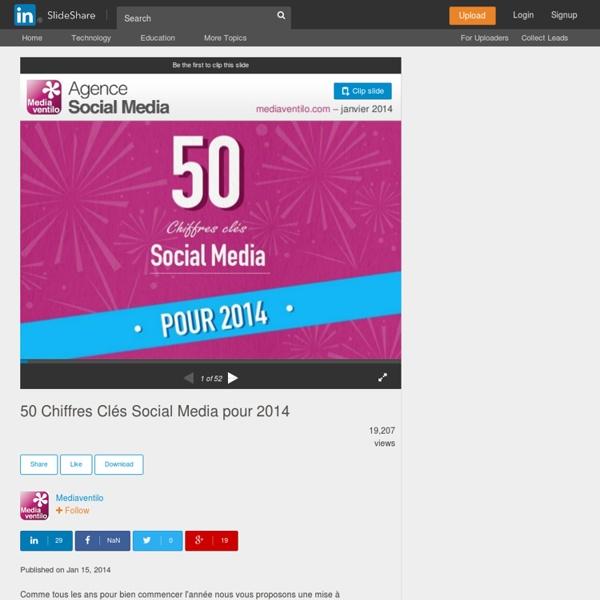 50 Chiffres Clés Social Media pour 2014