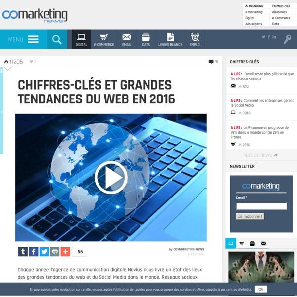 Chiffres-clés et grandes tendances du Web en 2016