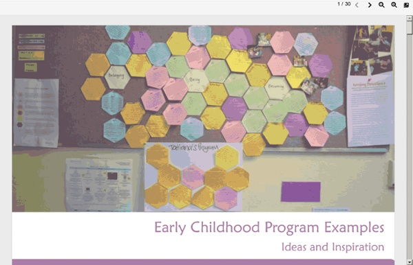 Early Childhood Program Examples