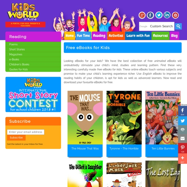 Free eBooks for Kids and Children – Online Animated English eBooks