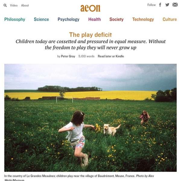 Children are suffering a severe deficit of play – Peter Gray