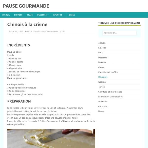 Chinois à la crème