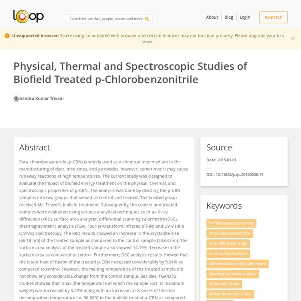 P-Chloro Benzonitrile DSC Analysis