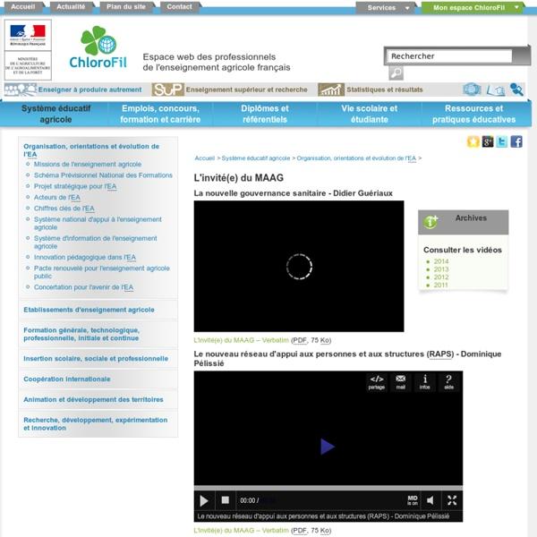 MAAF - JUILLET 2013 - CHLOROFIL - Rôle d'une DDCSPP : Didier MAMIS