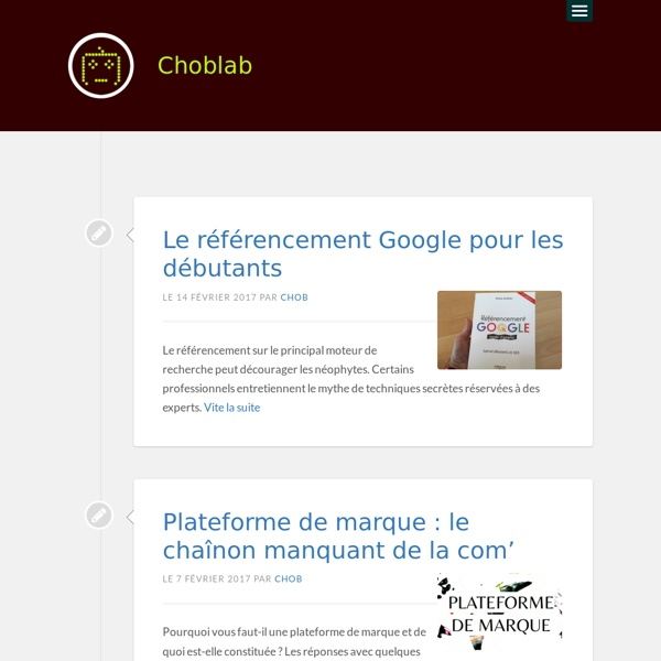 Choblab - Tendances digitales -