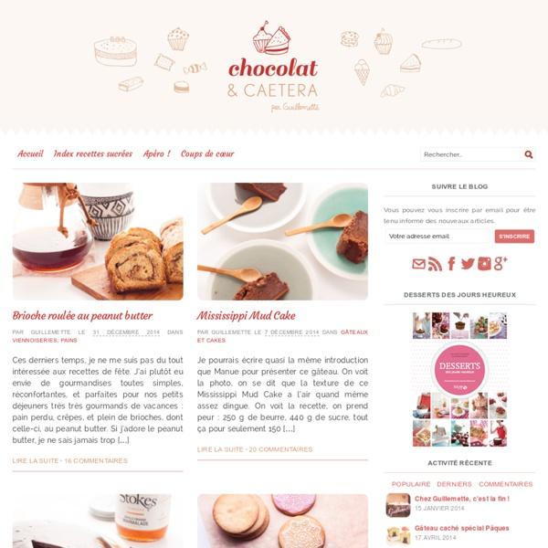 Chocolat et caetera, les recettes chocolat de Guillemette