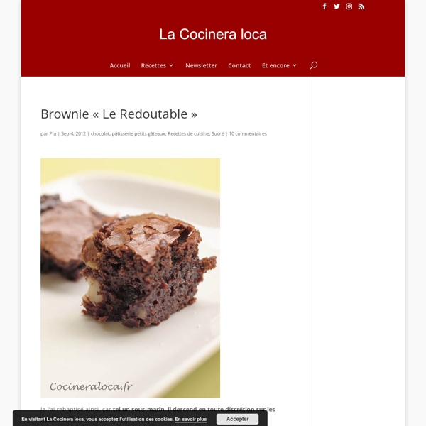 """Brownie au chocolat """"Le Redoutable"""""""
