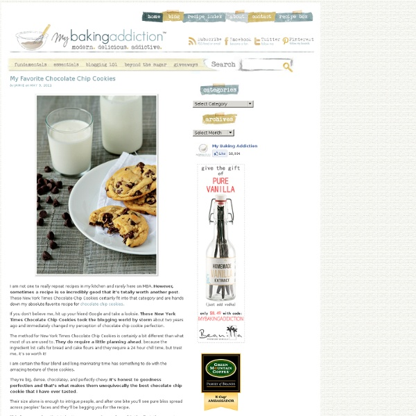 New York Time Chocolate Chip Cookies Recipe