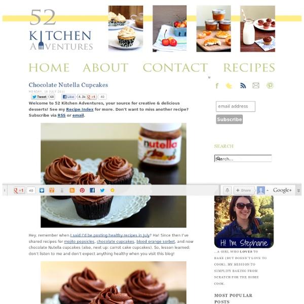 Chocolate Nutella Cupcakes Recipe