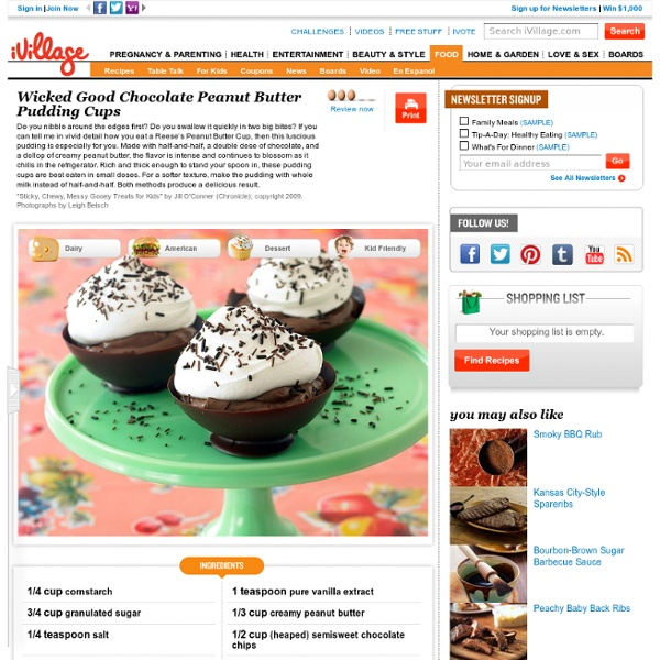 Wicked Good Chocolate Peanut Butter Pudding Cups - | Pearltrees