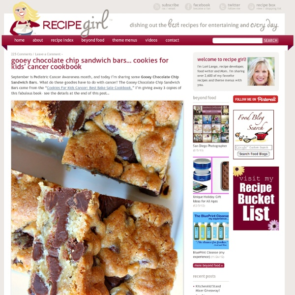 Gooey Chocolate Chip Sandwich Bars | Pearltrees