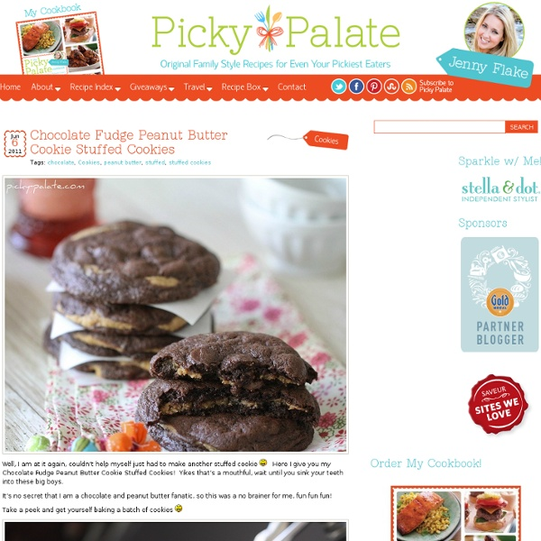 Chocolate Fudge Peanut Butter Cookie Stuffed Cookies | Pearltrees