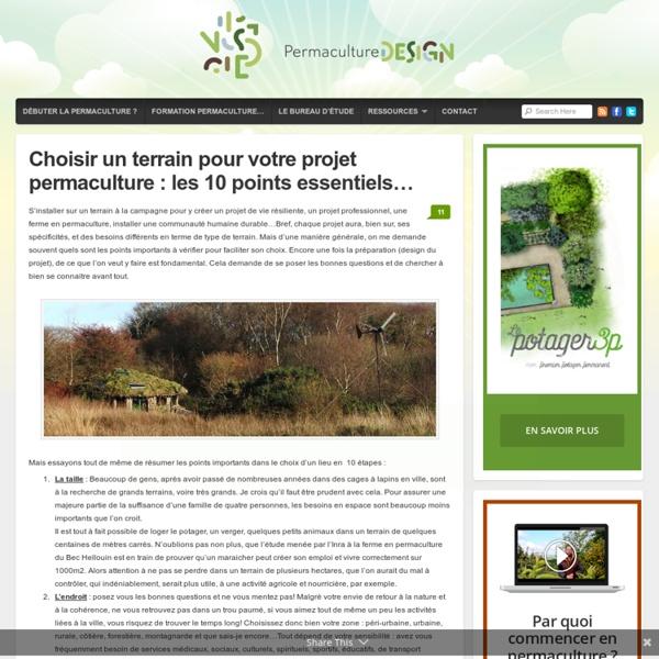 Choisir un terrain pour la permaculture pearltrees for Cout pour cloturer un terrain