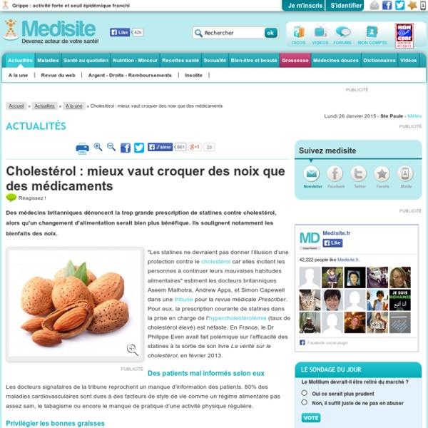 Cholestérol : mieux vaut croquer des noix que des médicaments