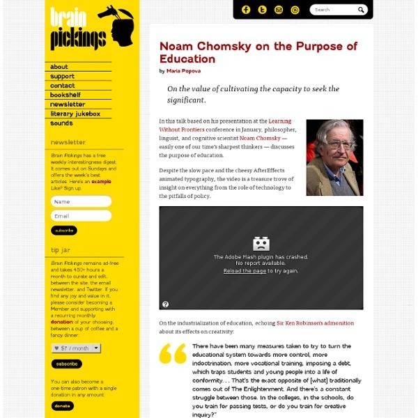 Noam Chomsky on the Purpose of Education