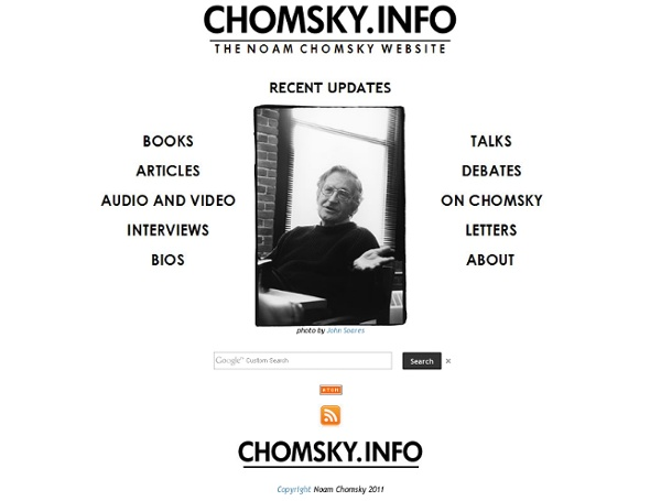 Chomsky.info : The Noam Chomsky Website