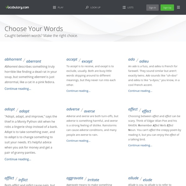 Choose Your Words -