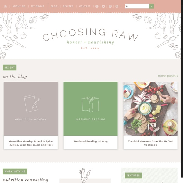 Choosing Raw – vegan and raw recipes — A Celebration of Vegan and Raw Food