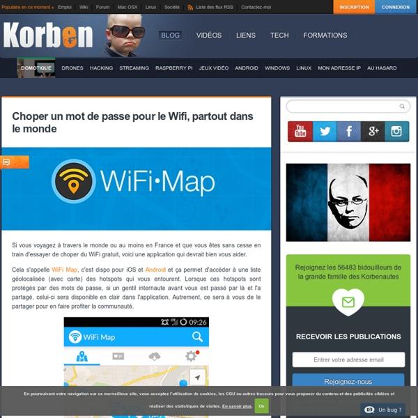 Choper un mot de passe pour le Wifi, partout dans le monde