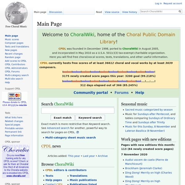Main Page/es - ChoralWiki