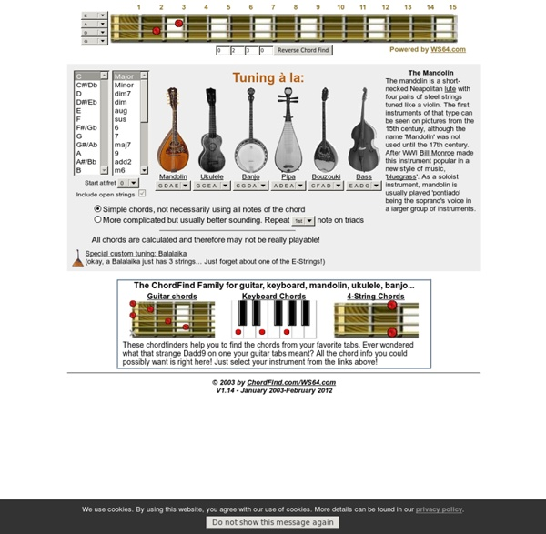 4-string Chord Finder