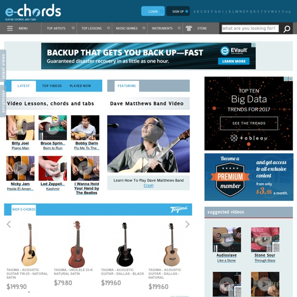 E-CHORDS.COM over 1 million chords, tabs, guitar chord | Pearltrees