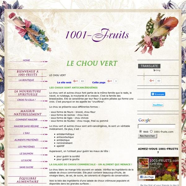 Le Chou Vert - un aliment medicament