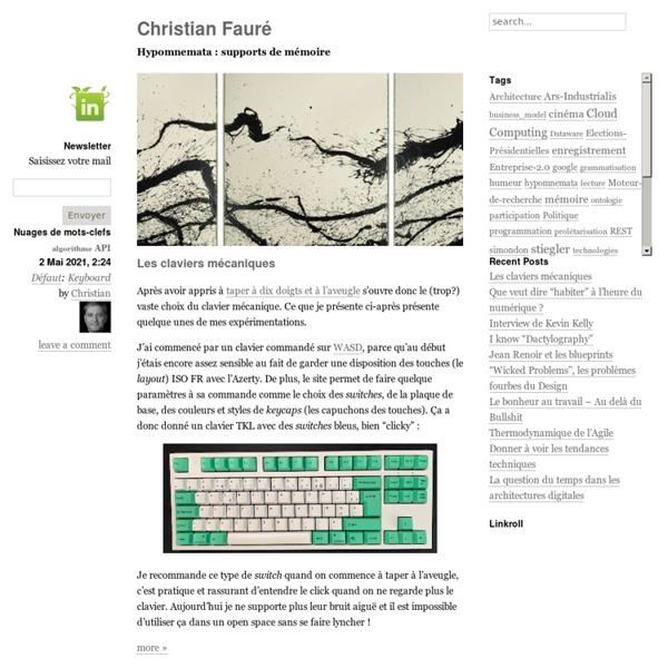 Christian Fauré - Hypomnemata : supports de mémoire