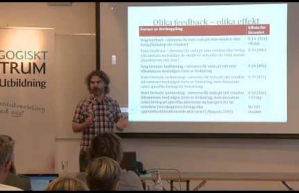Christian Lundahl 3 Återkoppling som för lärandet framåt