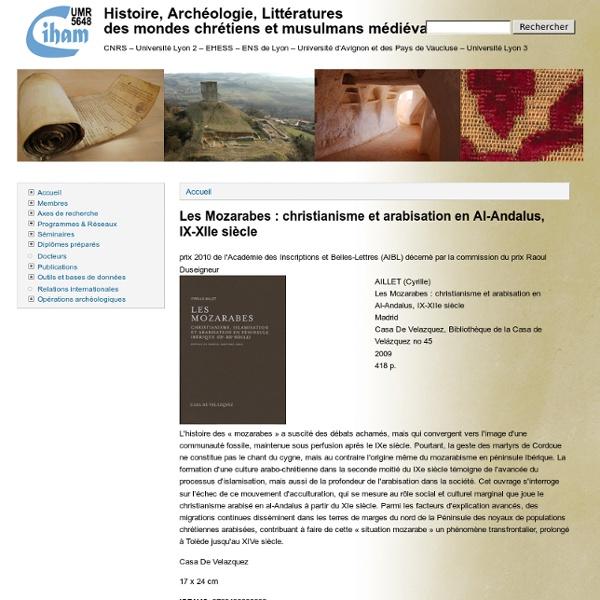 Histoire, Archéologie, Littératures <br/>des mondes chrétiens et musulmans médiévaux
