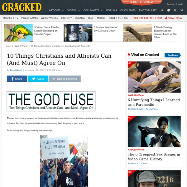 The God Fuse: 10 Things Christians and Atheists Can Agree On
