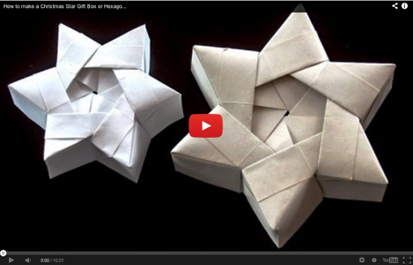 Make A Christmas Star Gift Box Or Hexagonal Star Box
