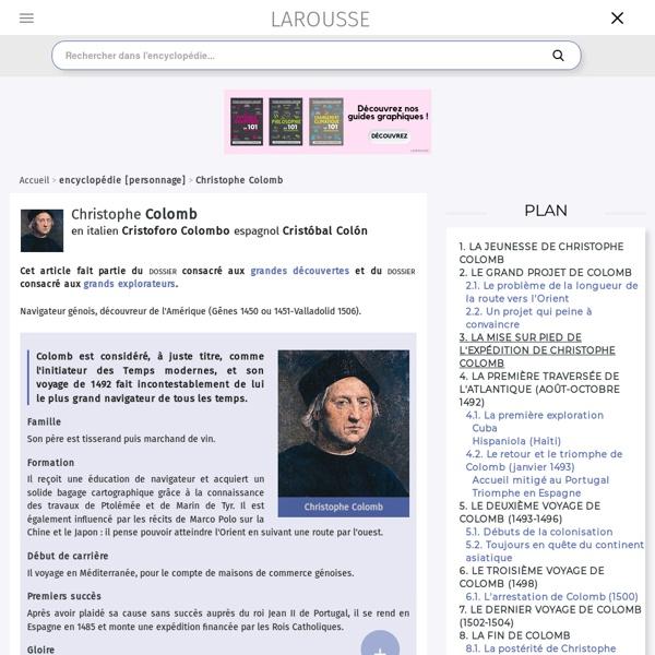 Encyclopédie Larousse Colomb