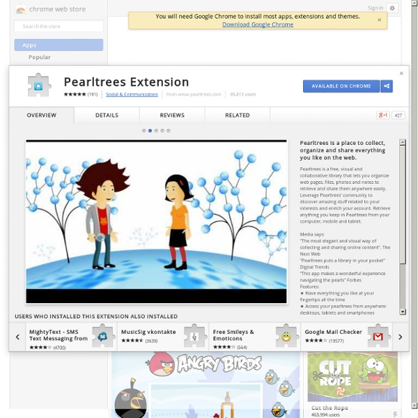 Pearltrees Extension