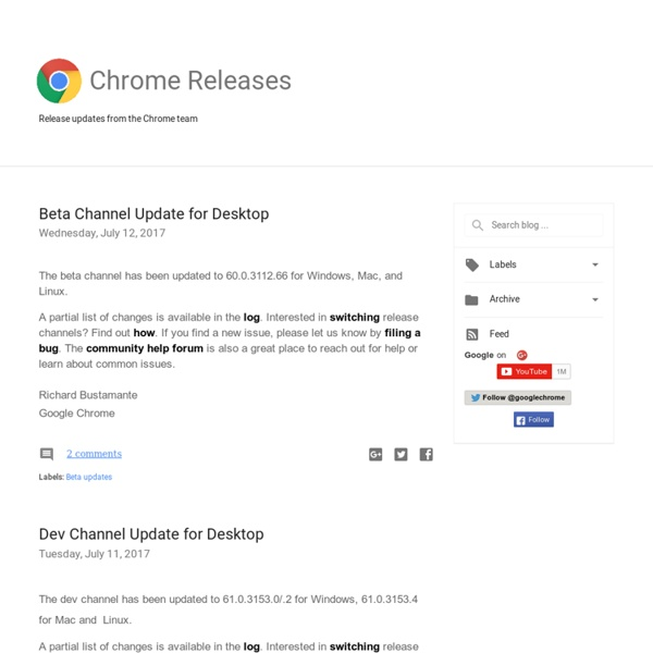 Chrome Releases