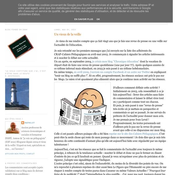 Chronique Éducation