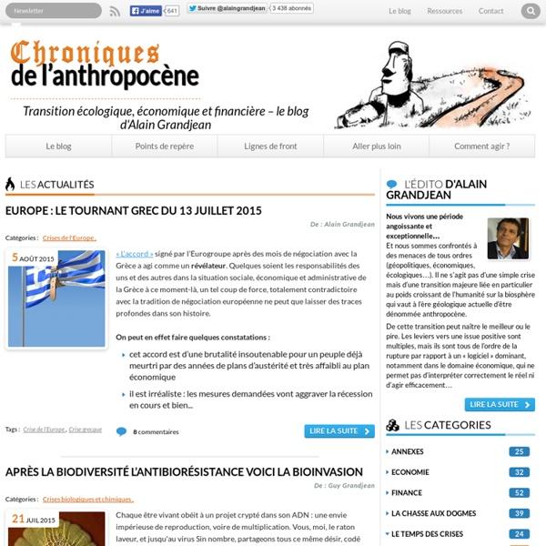 Le site d'Alain Grandjean