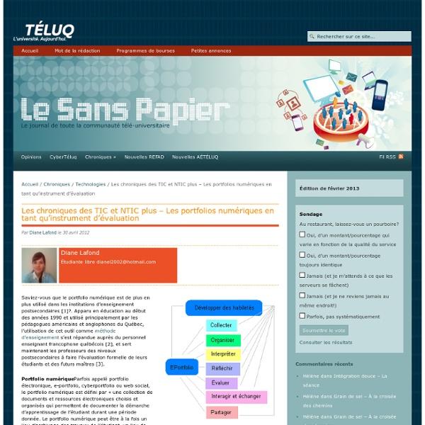 Portfolios numériques et évaluation