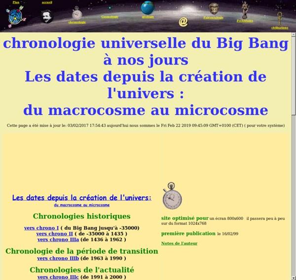 Chronologie du big bang à la mort de notre soleil