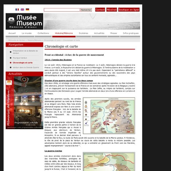 Chronologie et carte - Mémorial de Verdun