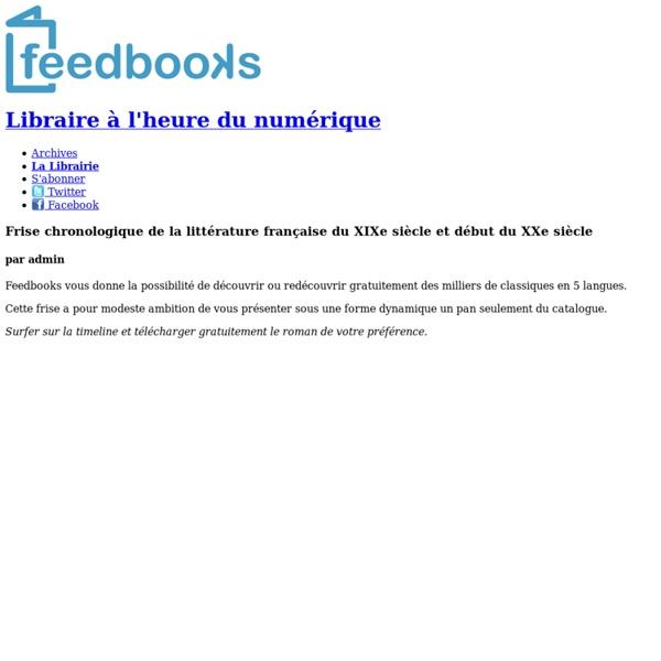 Frise chronologique de la littérature française