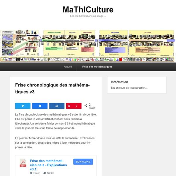 Frise chronologique des mathématiques v3 - MaThICulture