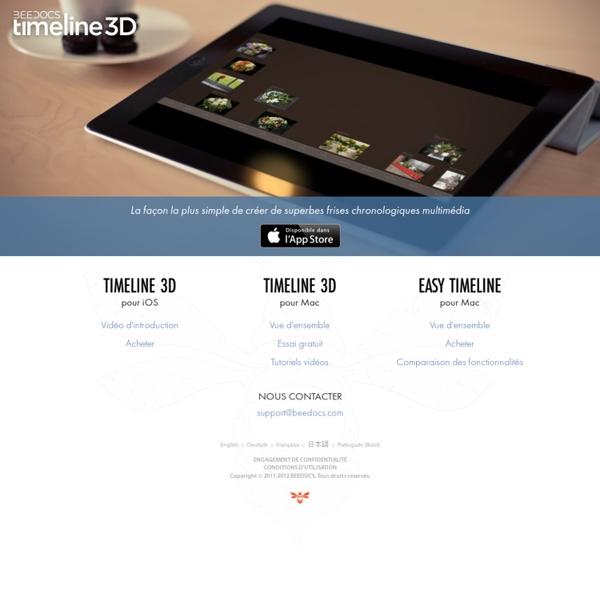 Timeline 3D –La façon la plus simple de créer de superbes frises chronologiques multimédia.