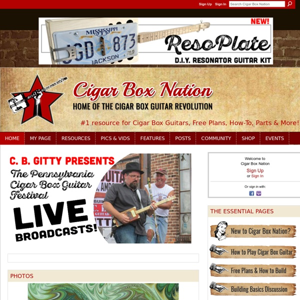 Cigar Box Nation - #1 resource for Cigar Box Guitars. Free Plans, & the Homemade Music Movement