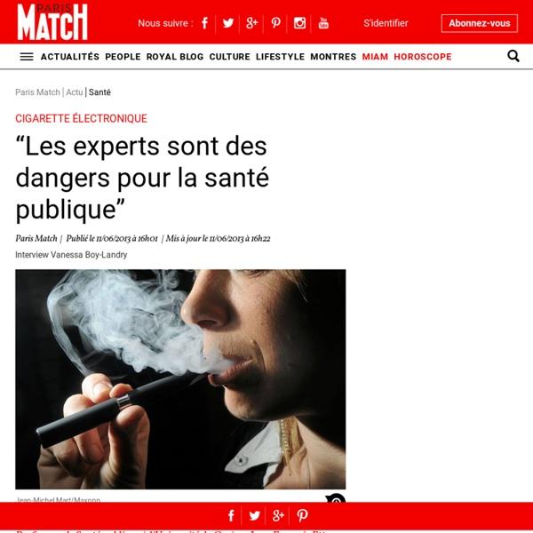 """Cigarette électronique. """"Les experts sont des dangers pour la santé publique"""""""