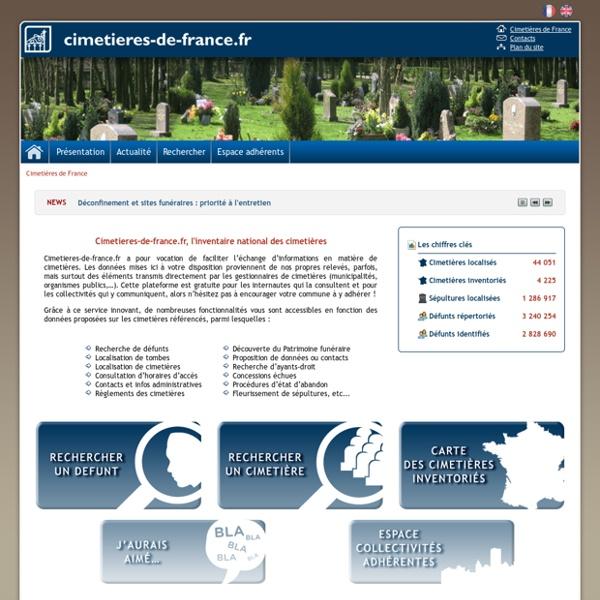 Cimetières de France, l'inventaire national des cimetières
