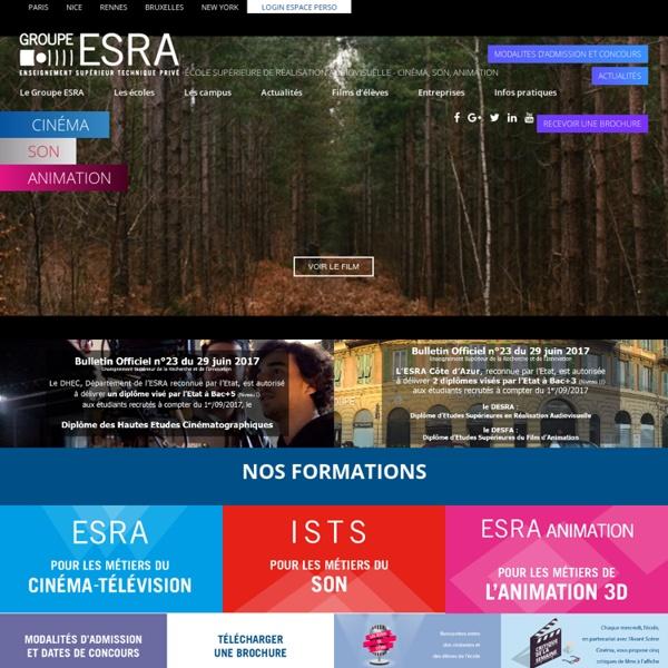 ESRA : Ecole Supérieure de Réalisation Audiovisuelle - Groupe ESRA